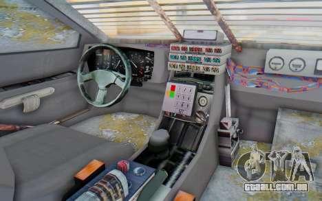 DeLorean DMC-12 2012 End Of The World para GTA San Andreas vista interior