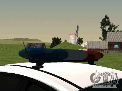 Ford Focus ДПС para GTA San Andreas vista traseira
