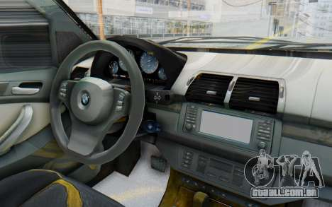 BMW X5 Pickup para GTA San Andreas vista interior