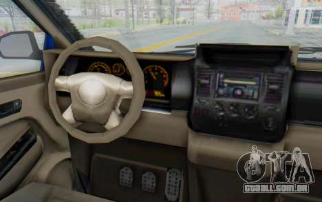 GTA 5 Vapid Minivan Custom para GTA San Andreas vista interior