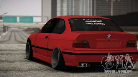 BMW E36 Stance para GTA San Andreas vista traseira