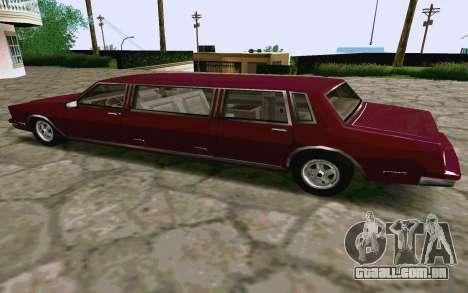 Tahoma Limousine v2.0 (HD) para GTA San Andreas traseira esquerda vista