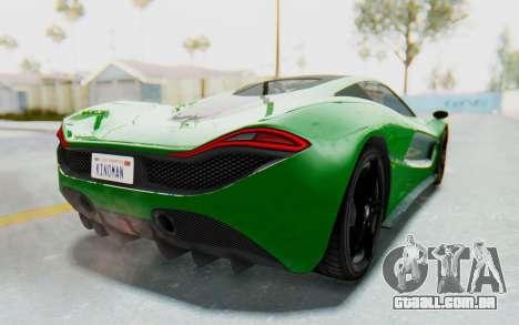 GTA 5 Progen T20 Devil PJ para GTA San Andreas esquerda vista
