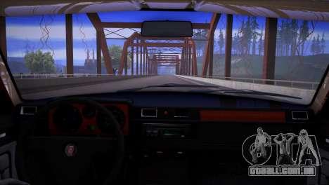 V8 de GÁS 31029 para GTA San Andreas vista traseira
