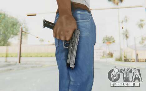 Tariq Iraqi Pistol Back v1 Silver Long Ammo para GTA San Andreas terceira tela
