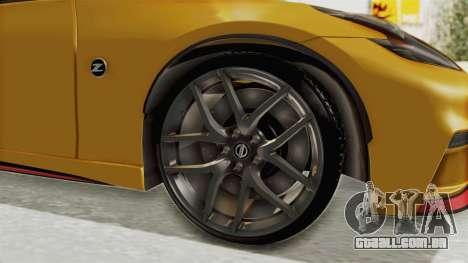 Nissan 370Z Nismo Z34 para GTA San Andreas vista traseira
