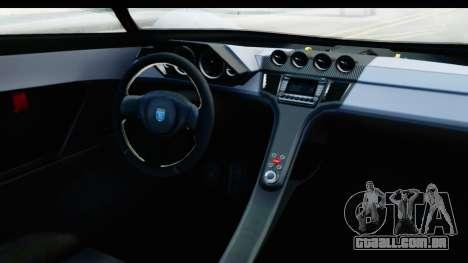 GTA 5 Grotti X80 Proto SA Lights para GTA San Andreas vista interior