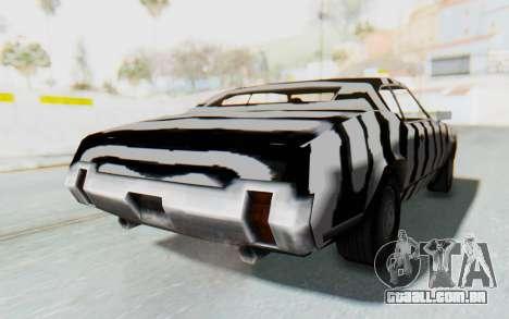 White Zebra Sabre Turbo para GTA San Andreas traseira esquerda vista