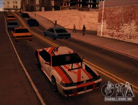 Sultan Asiimov para GTA San Andreas traseira esquerda vista