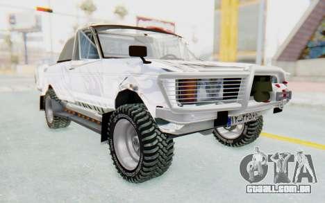 Ikco Super Peykan Pickup para GTA San Andreas vista direita