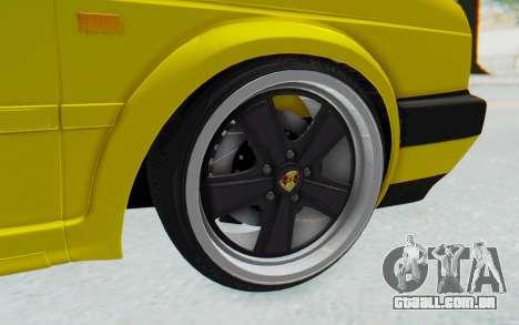 Volkswagen Golf Mk2 Lemon para GTA San Andreas vista traseira