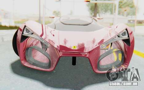 Ferrari F80 Concept para GTA San Andreas vista traseira