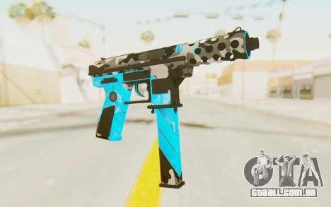Tec-9 Neural Blue para GTA San Andreas