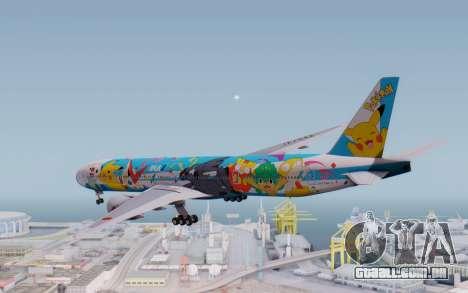 Boeing 777-300ER ZK-OKR para GTA San Andreas vista direita
