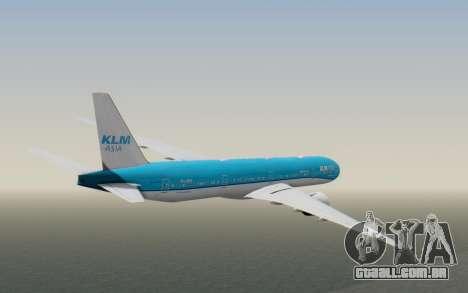 Boeing 777-300ER KLM - Royal Dutch Airlines v2 para GTA San Andreas vista direita