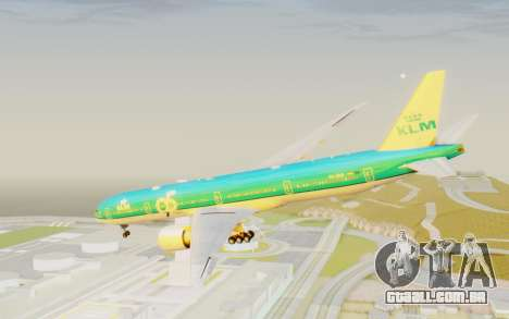 Boeing 777-300ER KLM - Royal Dutch Airlines v3 para GTA San Andreas vista direita