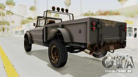 GTA 5 Canis Bodhi Trevor para GTA San Andreas esquerda vista