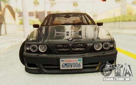 BMW M5 E39 M-Tech USDM para GTA San Andreas vista traseira