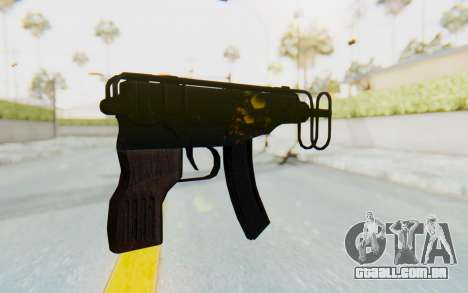 VZ-61 Skorpion Fold Stock para GTA San Andreas segunda tela