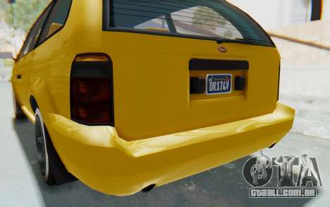 GTA 5 Vapid Minivan Custom IVF para GTA San Andreas interior