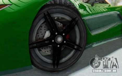 GTA 5 Progen T20 Devil PJ para GTA San Andreas vista traseira