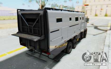GTA 5 HVY Brickade IVF para GTA San Andreas esquerda vista