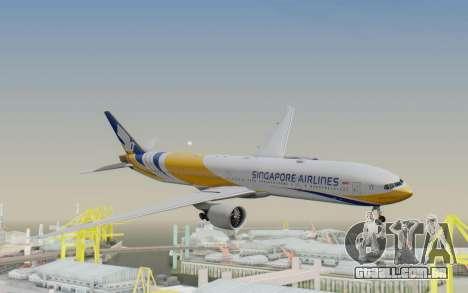 Boeing 777-300ER Singapore Airlines v2 para GTA San Andreas