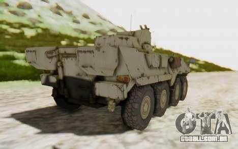MGSV Phantom Pain STOUT IFV APC Tank v2 para GTA San Andreas esquerda vista
