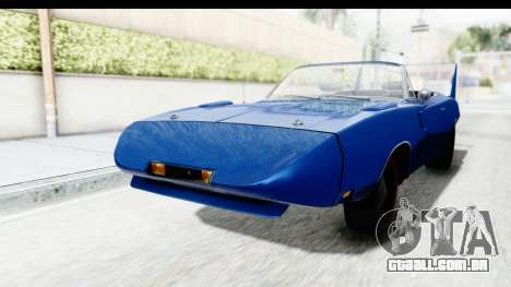 Dodge Charger Daytona 1969 Cabrio para GTA San Andreas vista direita