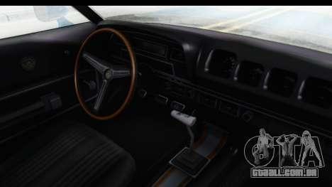 Mercury Cyclone Spoiler 1970 para GTA San Andreas vista interior