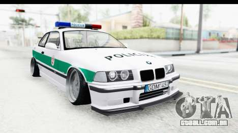 BMW M3 E36 Stance Lithuanian Police para GTA San Andreas
