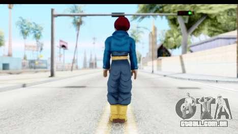 Dragon Ball Xenoverse Future Trunks SSG para GTA San Andreas terceira tela