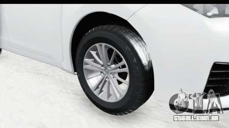 Toyota Corolla 2015 para GTA San Andreas vista traseira