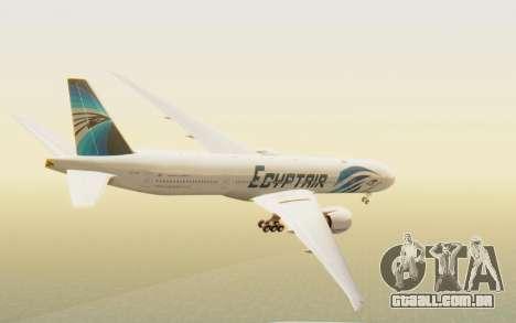 Boeing 777-300ER EgyptAir para GTA San Andreas esquerda vista