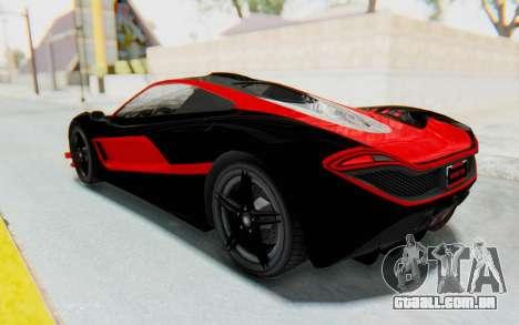 GTA 5 Progen T20 Devil PJ para GTA San Andreas vista superior