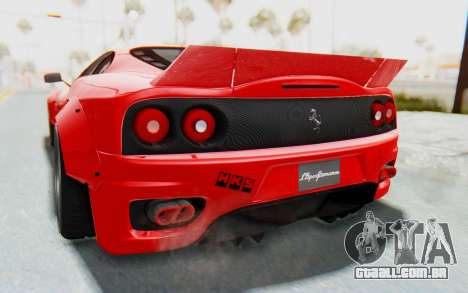 Ferrari 360 Modena Liberty Walk LB Perfomance v2 para vista lateral GTA San Andreas