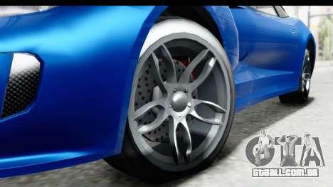 GTA 5 Grotti Bestia GTS para GTA San Andreas vista traseira