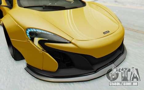 McLaren 650S Spyder ZenWorks para GTA San Andreas interior