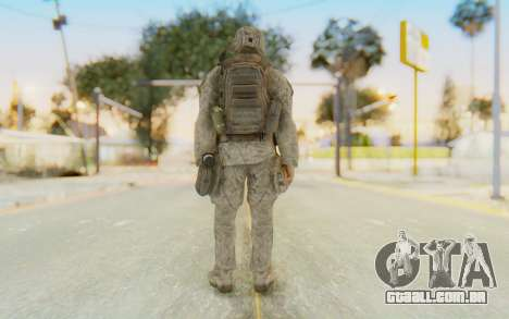 CoD MW2 Ghost Model v4 para GTA San Andreas terceira tela
