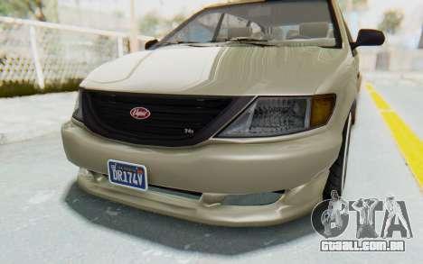 GTA 5 Vapid Minivan Custom without Hydro IVF para vista lateral GTA San Andreas