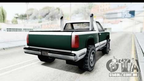 Yosemite Truck para GTA San Andreas vista direita