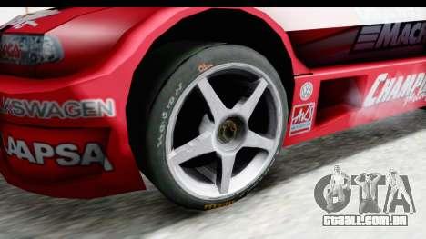 Volkswagen Polo TC2000 Temporada 2005(06) para GTA San Andreas vista traseira
