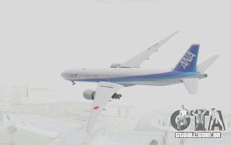 Boeing 777-300ER ANA JA735A para GTA San Andreas vista direita