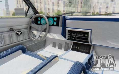 GTA 5 Willard Faction Custom Donk v2 para GTA San Andreas vista interior
