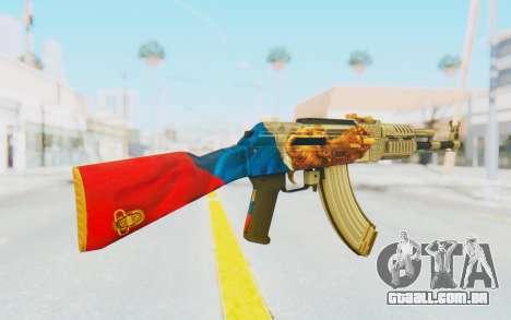AK-47A1 Russian Flag para GTA San Andreas terceira tela