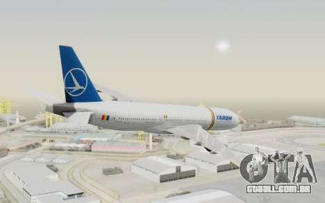Boeing 777-200 TAROM Romania para GTA San Andreas esquerda vista