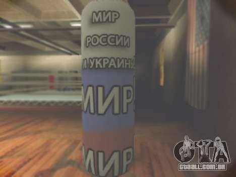 Pera, com a inscrição mundo, da Rússia e da Ucrâ para GTA San Andreas segunda tela