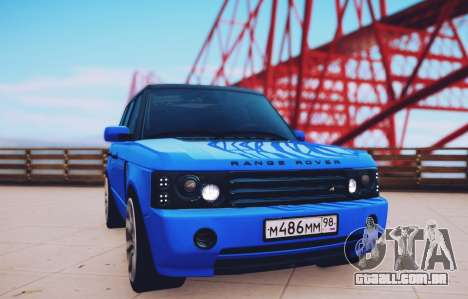 O Range Rover Sport Pintoresca para GTA San Andreas traseira esquerda vista