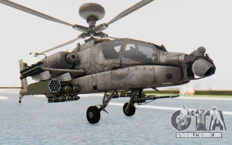 AH-64 Apache Desert para GTA San Andreas vista direita