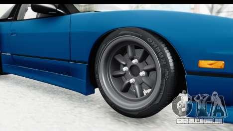 Nissan 240SX 1989 v2 para GTA San Andreas vista traseira